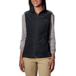 Columbia Zip Warm Vest Black Benton Springs Fleece